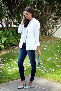 Spring Style Staple Womenu0026#39;s White Blazer - Just The Design