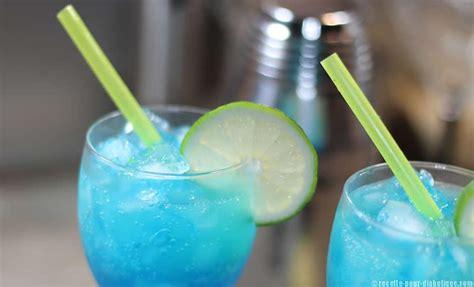 cocktail blue virgin sans sucre  sans alcool recettes