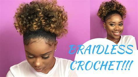 BRAIDLESS CROCHET   HIGH PUFF    Jamaican BOUNCE Crochet