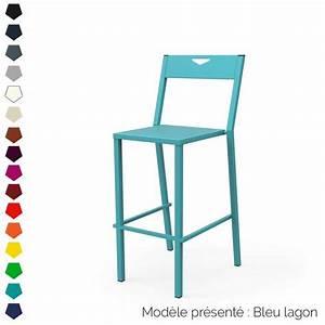 Chaise Haute Metal : chaise haute 75 cm design en m tal personnalisable d 39 int rieur et d 39 ext rieur ~ Teatrodelosmanantiales.com Idées de Décoration