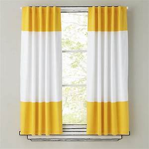 """84"""" Color Edge Curtain Panel (Yellow) The Land of Nod"""