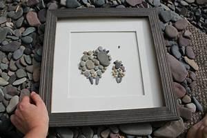 Wandbilder Zum Kleben : bilder mit steinen basteln eine h bsche wanddeko aus ~ Lizthompson.info Haus und Dekorationen