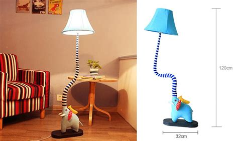 Best Cute Elephant Type Floor Lamp Cartoon Lamp Bedroom