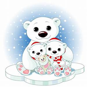 Cute Winter Polar Bear Clipart - ClipartXtras