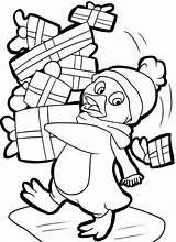 Coloring Penguin Pages Christmas Printable Presents Sheets Printables Holiday Santa Template Getdrawings Drawing Tulamama Popular Getcolorings sketch template