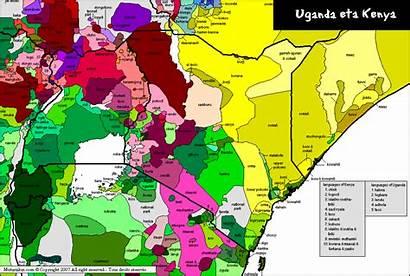 Kenya Uganda Languages Map Spoken Tanzania Ethiopia