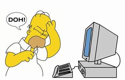Homer Simpson Computer Reaction Faces Doh Meme