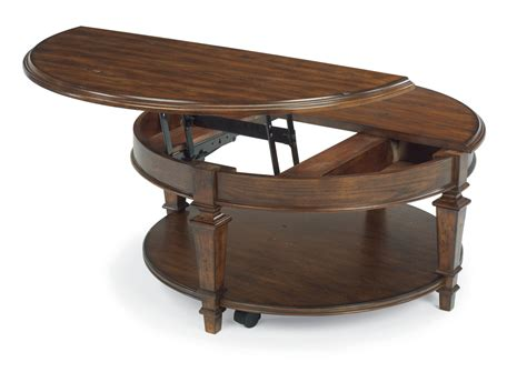 what is a two top table flexsteel round lift top coffee table 6692 0341