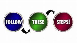 Follow These Steps Plan Process Procedure System 3d