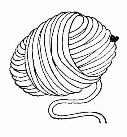 Yarn Ball Clipart Wool Drawing Clip Coloring