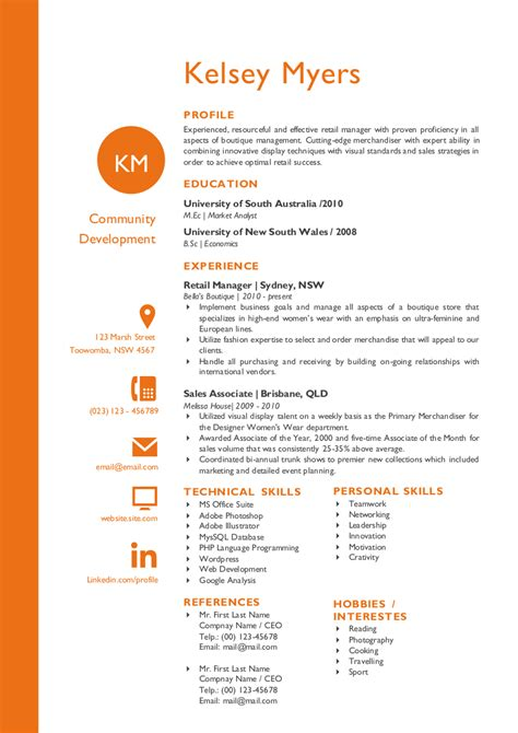 3 Column Resume by Two Columns Initials Resume Resume Templates On Creative Market