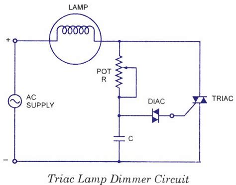 Triac Lamp Dimmer Circuit Are Devices Used Lower
