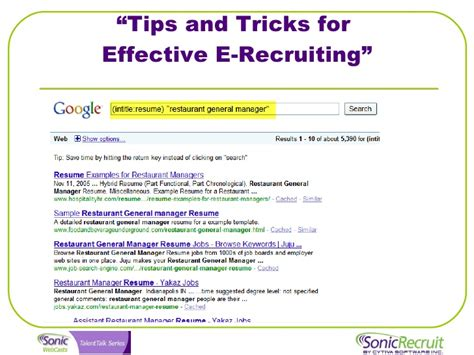 Intitle Resume Resume Your Submit Apply by Talent Talk Webinar Tips And Tricks For Effective E Recruiting
