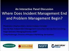 Where Does Incident Management End and Problem Management
