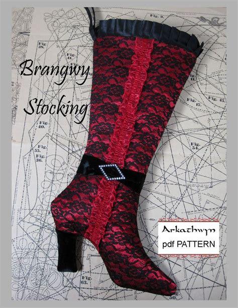 christmas stocking pattern  elegant high heel  arkathwyn