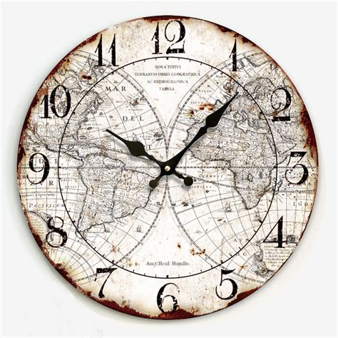 34 wooden wall clocks to 34cm digital vintage wooden wall clock retro style crafts