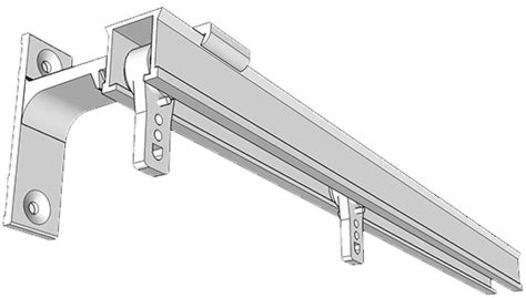 wall mount ceiling track