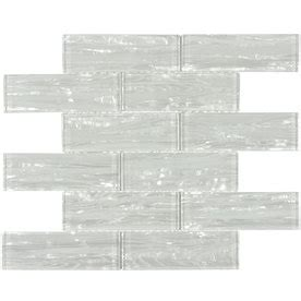 Elida Tile Home Depot by Elida Ceramica Pearl White Glass Mosaic Subway Thinset