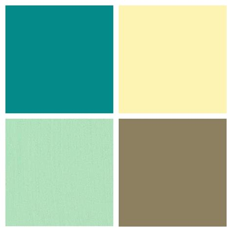 Kitchen Color Palette Butter  Country Yellow, Mint