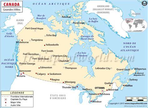 Carte Du Canada Avec Villes by Carte Canada Avec Villes