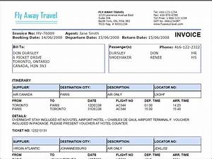 Travel agency invoice format excel all tour pinterest for Travel agency invoice