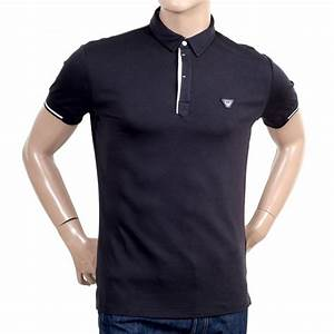 Mens Slim Fit Polo Shirt in Dark Blue from Armani Jeans