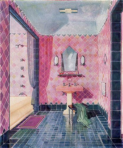 1920s bathroom design deco this is a beautiful illus flickr
