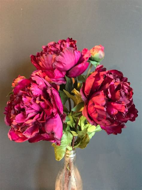 large burgundy peony flowers bunch   heavenly homes