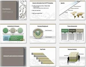 powerpoint floral business introduction template With company introduction presentation template