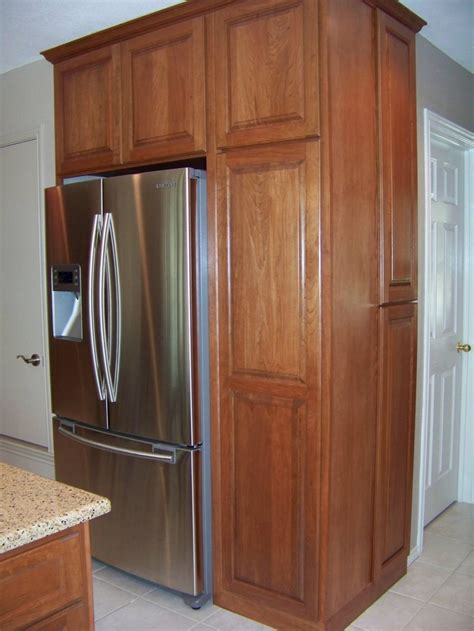 kitchen cabinets refrigerator panels built in refrigerator cabinet surround traditional