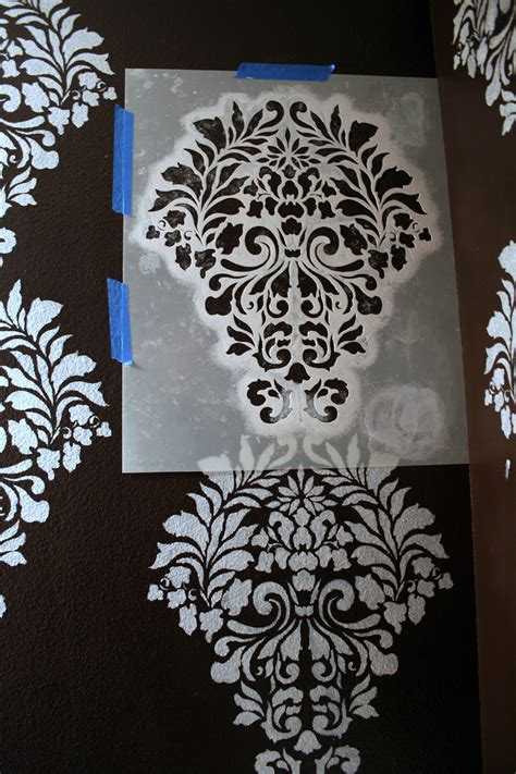 stencil designs for walls i finally stenciled a wall with this gorgeous pattern in