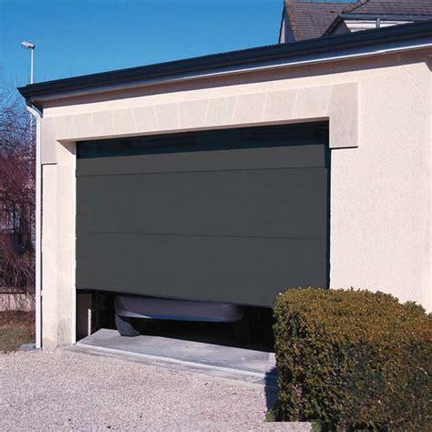 porte de garage sectionnelle confort gris anthracite castorama
