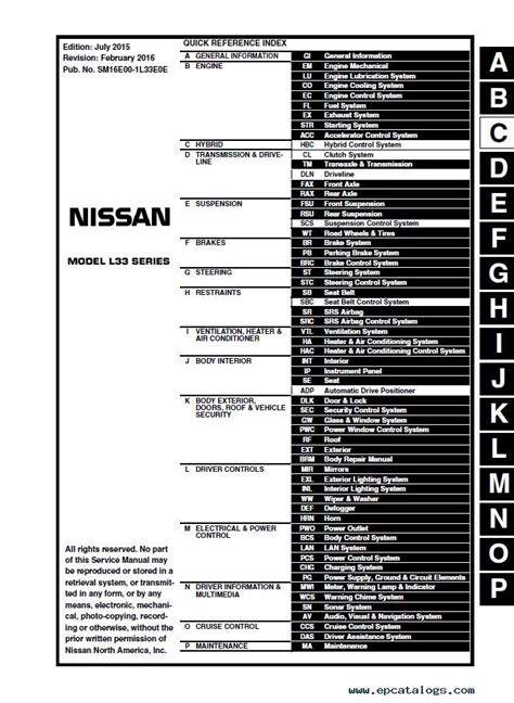car maintenance manuals 2010 nissan altima security system download nissan altima l33 model 2014 2016 esm