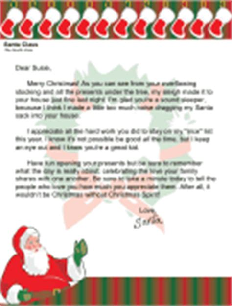 christmas morning santa letters