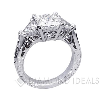 princess cut engagement rings 2 carat princess cut and trillion engagement ring ideals