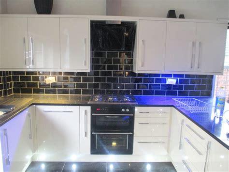 black white tiles for kitchen black and white kitchen metro tiles 9264