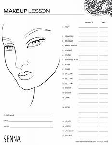 Make Up Face Template