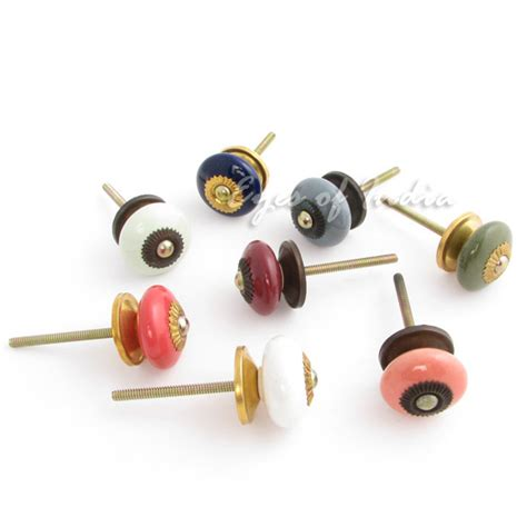 small cabinet door knobs small ceramic round painted cabinet cupboard dresser
