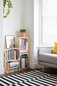 diy crate bookcase burkatron