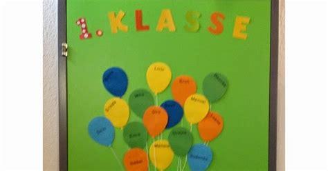 klassenkunst tuerdekoration ballons