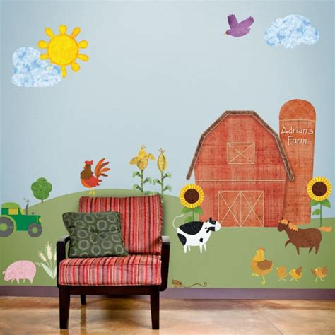 Kinderzimmer Wandgestaltung Bauernhof by Now Available New Personalized Barn For Farm Room Wall