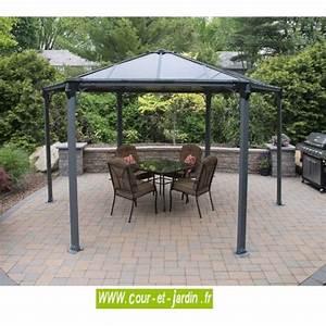 Tonnelle Terrasse : tonnelle hexagonale alu couv 39 terrasse pergola ~ Melissatoandfro.com Idées de Décoration