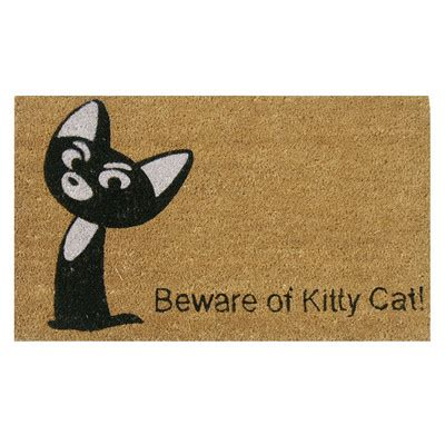 beware of the cat doormat cat enter here 17 ridiculously awesome cat