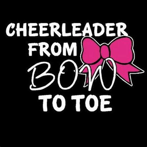From To Toe white writing from bow to toe cheer