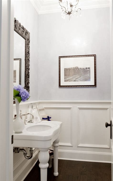 bathroom wainscoting  finishing touch