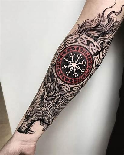 Viking Tattoo Tattoos Scandinavian Sleeve Nordic Norse