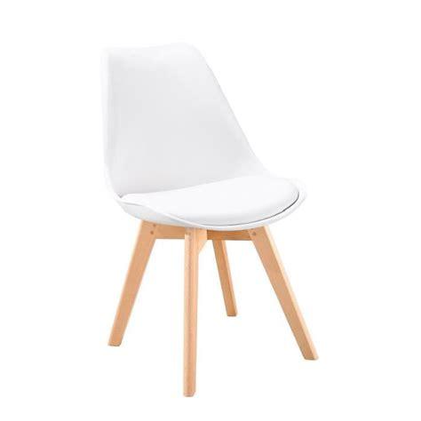 chaises de bureau design bjorn chaise scandinave de salle à manger blanche achat