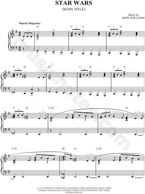 """Harry potter by john williams easy sheet music for piano beginners music score. Sheet Music: """"Star Wars""""   Bladmuziek, Muzieknoten, Muziek"""