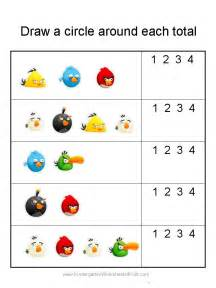 Worksheets Kindergarten Free Angry Birds Math Worksheets For Kindergarten