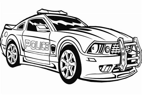 transformers police car coloring page transformers police